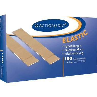 Actiomedic ELASTIC Fingerverband 12x2cm elastisch, hautfarben (VPE=100 stk) Produktbild